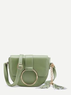 Shop O-Ring Accent Tassel Saddle Bag online. SheIn offers O-Ring Accent Tassel Saddle Bag & more to fit your fashionable needs.