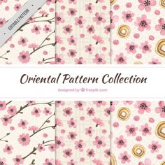 Watercolor floral patterns Free Vector