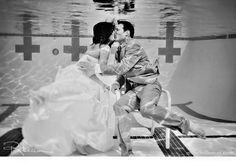 Rebecca from Millie Holloman Photography was fantastic and agreed to take our engagement pictures underwater!