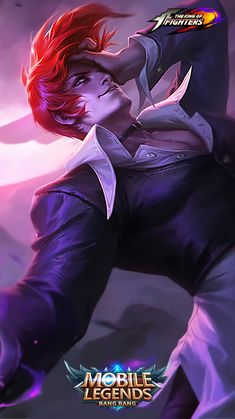 Wallpaper Chou Iori Yagami Skin Mobile Legends Full HD for Android and iOS Joker Iphone Wallpaper, Phone Wallpaper For Men, Hero Wallpaper, Wallpaper Keren, Bruno Mobile Legends, Miya Mobile Legends, Hd Wallpapers For Mobile, Gaming Wallpapers, Hero Fighter