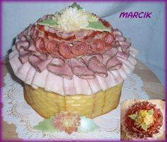 Slané, strana 163 | dorty od mámy slaný dort Sandwich Cake, Sandwiches, Catering, Side Dishes, Snacks, Cakes, Desserts, Food, Antipasto Tray
