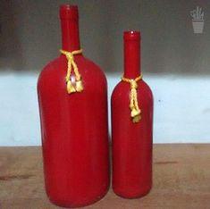 Pintura simples nas garrafas