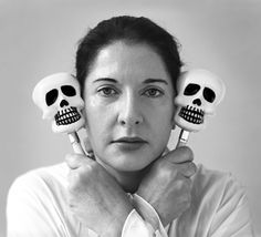 Marina Abramović, Portrait with maracas (2005)  Black and White Photograph, 124 x 134 cm