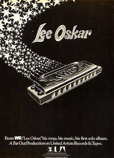 1976 Ad Harmonica Lee Oskar War United Artists Records Tape Musical Instrument   eBay