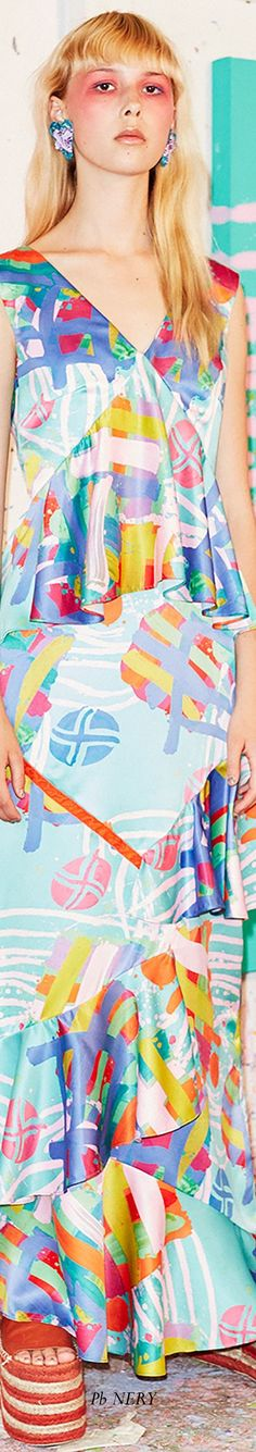 Hause of Holland Resort 2018 Floral Fashion, Color Fashion, Fashion Design, Textile Prints, Textiles, House Of Holland, Contrast, Colours, Colorful
