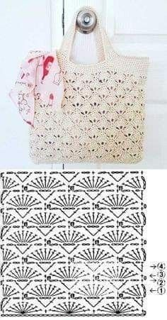 Knit (or crochet) a bag. Would be nice for a reserved weekend or a vacation bag. - Fashionable bags - Escolha e copy: Modelos de Bolsa summer bag ⋆ De Frente Para O Mar. Learn to crochet Christmas tr - Crochet Market Bag, Crochet Handbags, Crochet Purses, Knit Or Crochet, Free Crochet Bag, Crochet Summer, Crochet Bags, Crochet Flowers, Crochet Diagram