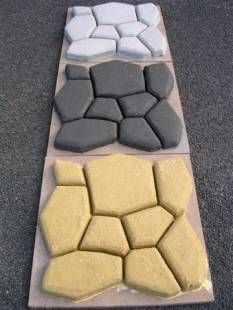 Cobblestone DIY paving using one Pavermaker mould (paving costs less than $10 per square metre) - any shape any colour.  See how to use the mould at www.pavermaker.com