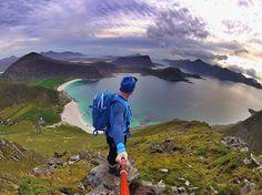 Make your own #adventure in the #lofotenislands  @gopro #hero4session capture @response_nordic  #hikingadventures #magicislands #ediax #vikingfootwear #adventureisoutthere #automn #lofoten #kaskofsweden #mammutscandinavia #hattvikalodge