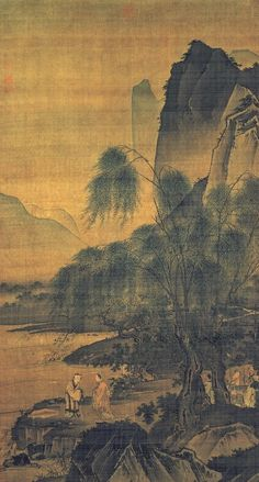Landscape painting of the Ming Dynasty ------------------ #landscape #paintingart
