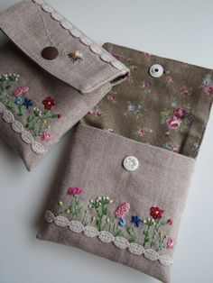 Flower purse embroidery