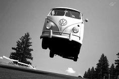 Jump! Big air in a VW van