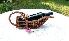 Vintage Français vin panier porte-bouteille par froufrouretro