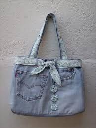 Home Stuff & More . Diy Bags Jeans, Denim Bags From Jeans, Denim Tote Bags, Denim Purse, Love Jeans, Blue Jean Purses, Denim Ideas, Denim Crafts, Recycled Denim