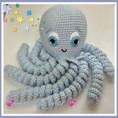 ideas for crochet amigurumi octopus toys Octopus Crochet Pattern, Newborn Crochet Patterns, Amigurumi Patterns, Crochet With Cotton Yarn, Crochet Yarn, Cute Crochet, Crochet Dolls, Preemie Octopus, Crocheted Jellyfish