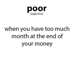 The definition of 'Poor.'