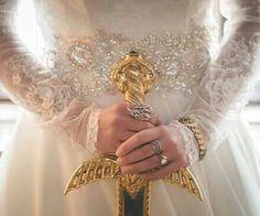 Queen Constance, sword of gold