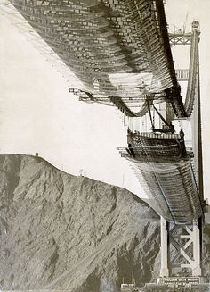 The Golden Gate Bridge under construction on November 9, ... Chronicle Archives
