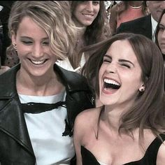 If I could be best friends with 2 celebrities, it would be these ladies. Jennifer Lawrence, Emma Watson