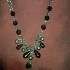 Necklace Beautiful Black and sliver necklace Jewelry Necklaces