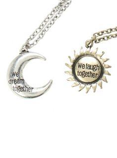 LOVEsick We Dream We Laugh Best Friend Necklace Set