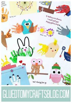 Finds TONS of free printable kid craft templates on Glued To My Crafts!