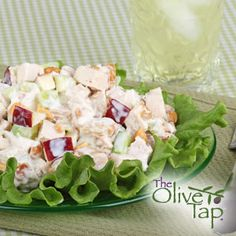 Sweet and Sour Chicken Salad with Apples & Apple Pear Chutney...A delicious fall variation on chicken salad by the author of 30 Spectacular Salads, Kelly Donlea.