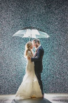 Think there's nothing as unlucky as rain on your wedding day? These beautiful and romantic pictures will change your mind.