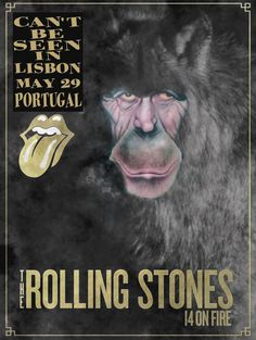 The Rolling Stones 14 on fire tour poster.
