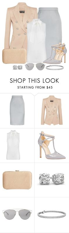 """Work wear"" by gallant81 ❤ liked on Polyvore featuring ESCADA, Balmain, MICHAEL Michael Kors, Nine West, John Lewis, Christian Dior and Blue Nile"