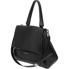 Givenchy Women Medium Pandora Pure Waxy Leather Bag ($2,255) ❤ liked on Polyvore featuring bags, handbags, shoulder bags, purses, bolsas, accessories, bolsos, black, givenchy and man bag