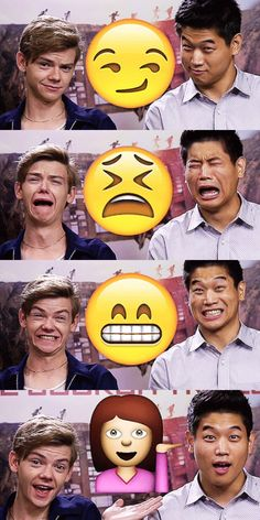 Emojis + ki hong lee and thomas sangster