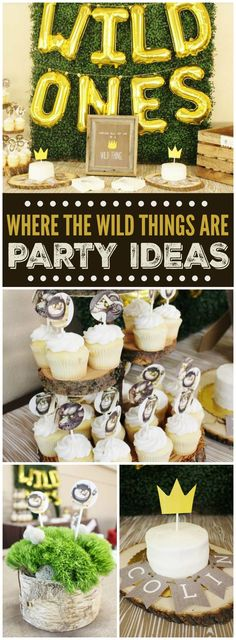 This fun Where the Wild Things Are party is held at the Houston Zoo! See more party ideas at CatchMyParty.com!