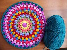 a granny round cushion