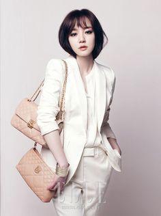 All White  Im Soo Jung in Elle Korea