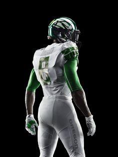 "Oregon Ducks 2014 Nike Pro Combat ""Mach Speed"" football uniform"
