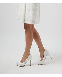 Cream Bridal Court Shoes  | New Look