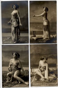 Madiah Surith | T2520 Famous Belly Dancer Snake Charmer Madiah Surith in Art Nouveau Outfit 4X R | eBay
