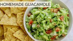 Homemade Guacamole - Clean & Delicious with Dani Spies Homemade Guacamole Easy, Guacamole Recipe Easy, How To Make Guacamole, Low Sodium Guacamole Recipe, Fresh Guacamole, All You Need Is, Gucomole Recipe, Gourmet Recipes, Healthy Recipes