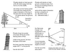 Worksheets Trig Word Problems Worksheet 1000 images about maths trigonometry on pinterest problems in worksheets bing images