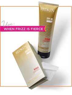 Winter Hair Help – How to Fight the Frizz. If your hair is extra-coarse, rely on a real hair saver. Redken Frizz Dismiss Rebel Tame is a leave-in cream that's great for extreme temperatures (either hot or cold). It's among the frizzy hair products made with Brazilian Pracaxi Oil, which nourishes and strengthens your strands.