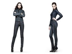 (7) Midge Carter Skinny Jeans - (8) Lynn Slim Denim Shirt & 3301 Contour Skinny Jeans - G-Star RAW 2013 Pre Spring Summer Womens Collection