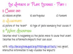 Impact of Plate Tectonics Assignment