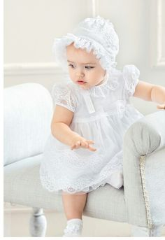 Shop Aletta at Childrensalon Cute Toddler Girl Clothes, Modern Baby Clothes, Designer Baby Clothes, Baby Girl Dress Patterns, Little Girl Dresses, Baby Girl Birthday Dress, Baby Dress, Baby Girl Fashion, Kids Fashion