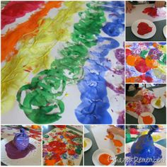 Sensory balloons to paint/print with!