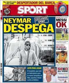 Los Titulares y Portadas de Noticias Destacadas Españolas del 27 de Agosto de 2013 del Diario Deportivo SPORT ¿Que le pareció esta Portada de este Diario Español?