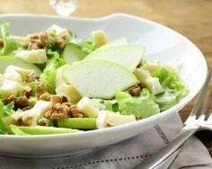 Salade aux pommes, noix et comté (facile, rapide) - Une recette CuisineAZ