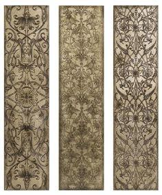Filigree Pattern Wall Panels - Set of 3 - Unframed Art - Wall Decor - Home Decor | HomeDecorators.com