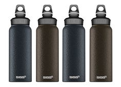 Sigg Graphite Wide Mouth Bottle they look beautiful but they suck hot drinks get cold, cold ones hot and not dishwasher proof, and the start to smell funny after a while
