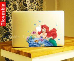 Disney Ariel Little Mermaid Decal for Macbook Pro, Air or Ipad Stickers Macbook Decals Apple Decal for Macbook Pro / Macbook Air13124