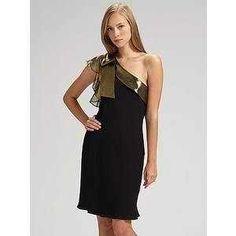 Tibi New York One Shoulder Silk Dress Black Size 8 $159.99 | eBay www.darlingdiscounts.com